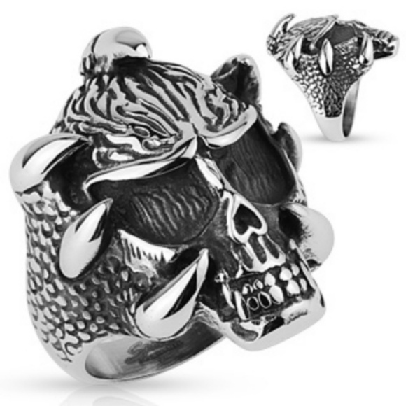 spikes Other - 316L stainless steel skull ring